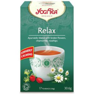Herbata Relax, Uspokajająca Bio (17 x 1,8g) Yogi Tea